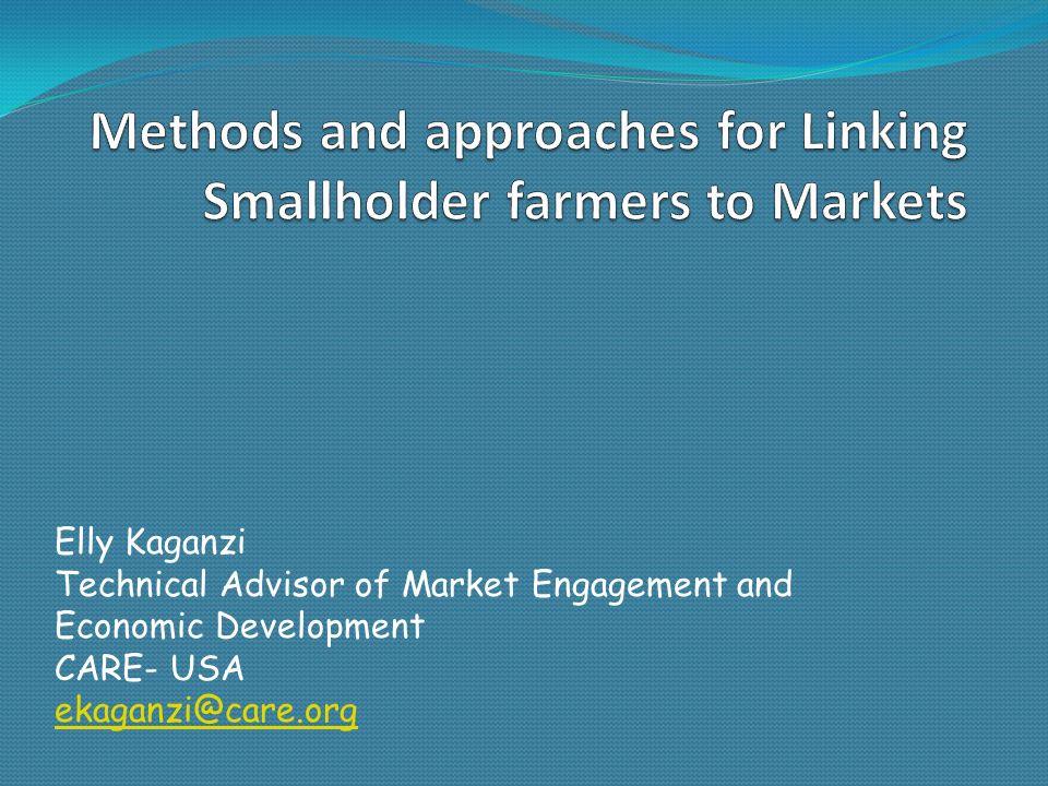 Elly Kaganzi Technical Advisor of Market Engagement and Economic Development CARE- USA ekaganzi@care.org