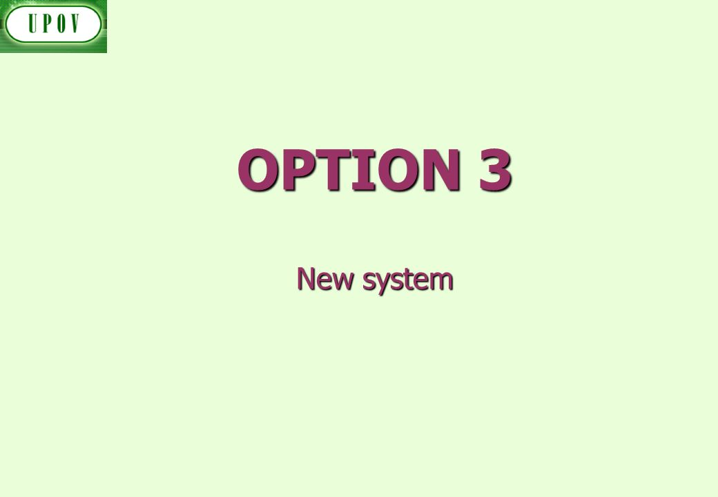 OPTION 3 New system