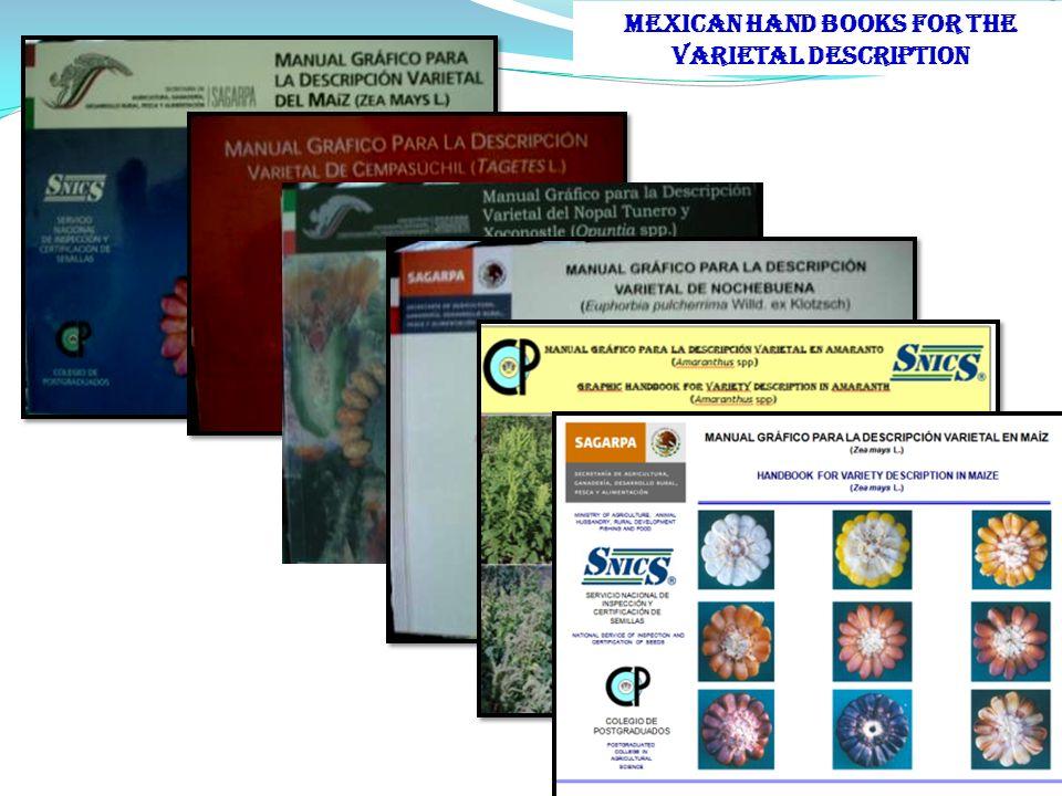 MEXICAN HAND BOOKS FOR THE VARIETAL DESCRIPTION