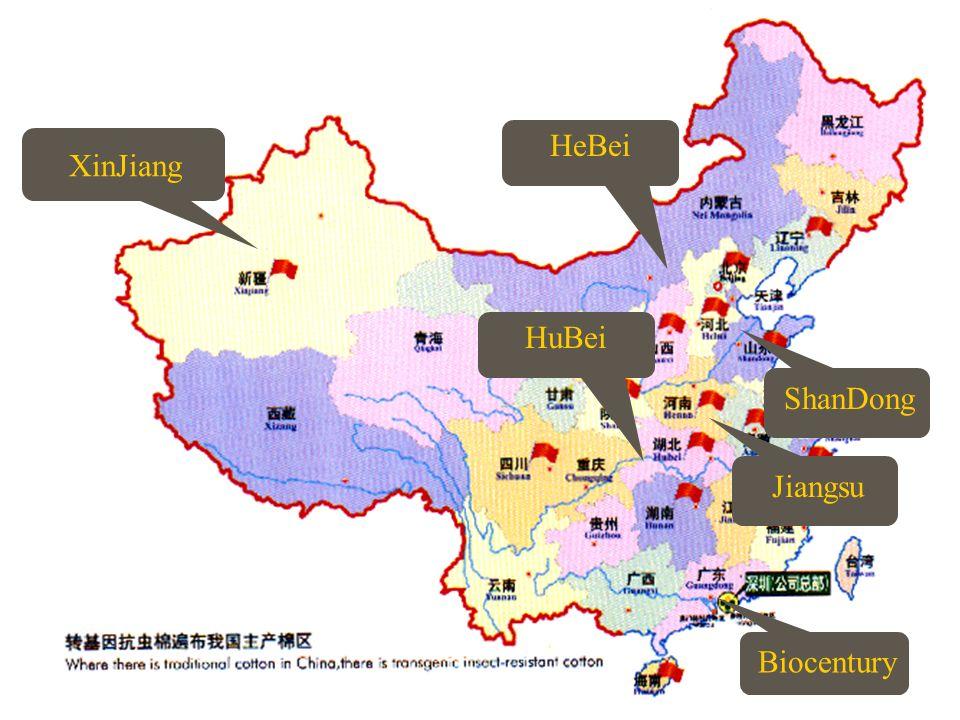 XinJiang HeBei Jiangsu Biocentury ShanDong HuBei