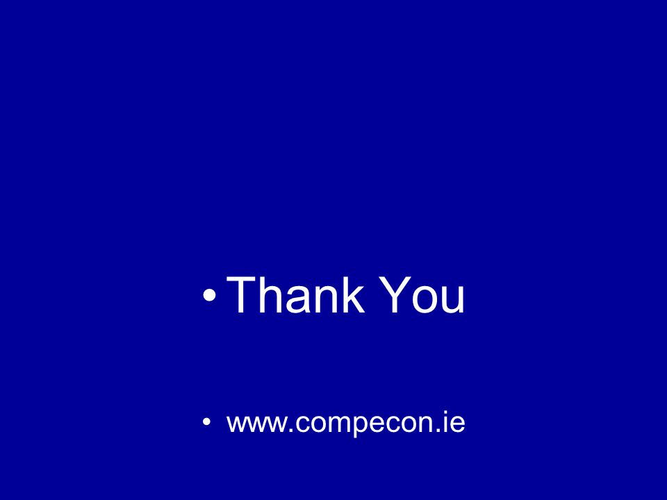 Thank You www.compecon.ie