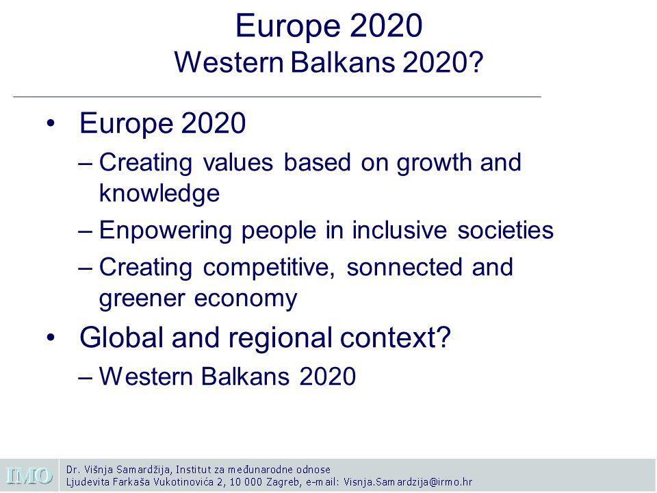 Europe 2020 Western Balkans 2020.