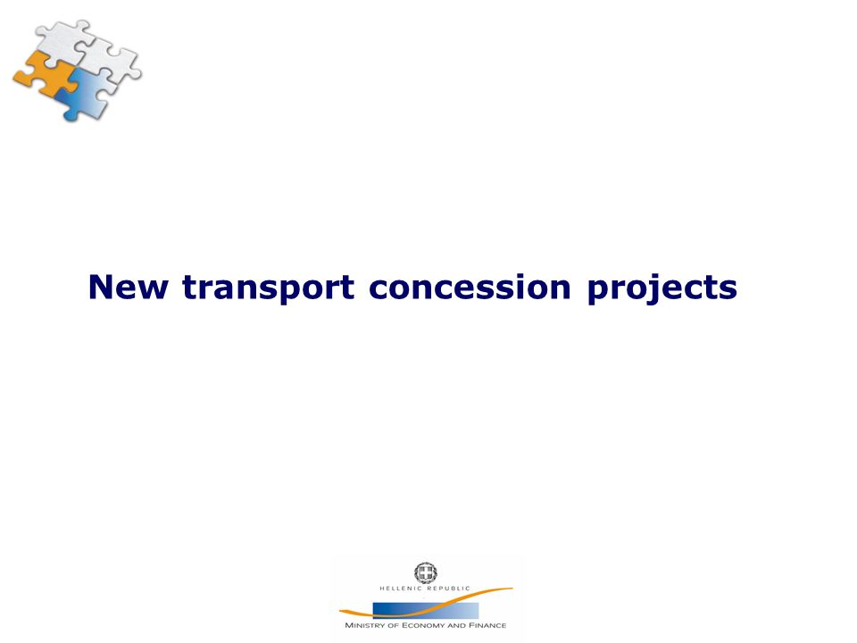 New transport concession projects