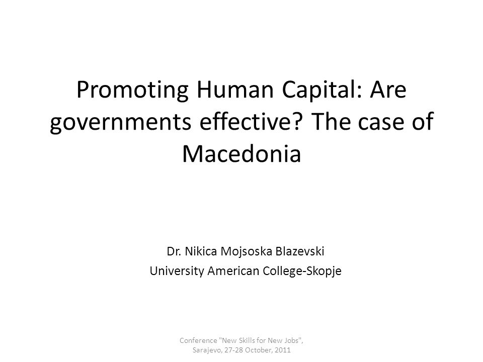 Promoting Human Capital: Are governments effective.