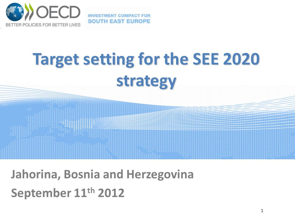 Overall Strategic Targets: a)Increase of GDP per capita expressed in PPP relative to the EU b)Growth of total trade of goods and services c)Reduction of trade deficit Integrated Growth a)Growth of intra-regional trade in goods and services b)Growth of overall FDI inflows Smart Growth a)Growth of GDP per person employed An initial set of target indicators 22 Sustainable Growth a)Growth of enterprise creation b)Growth of export of goods and services per capita Inclusive Growth a)Growth of overall employment rate b)Increase of rate of population with tertiary education Governance for Growth a)Increase government effectiveness