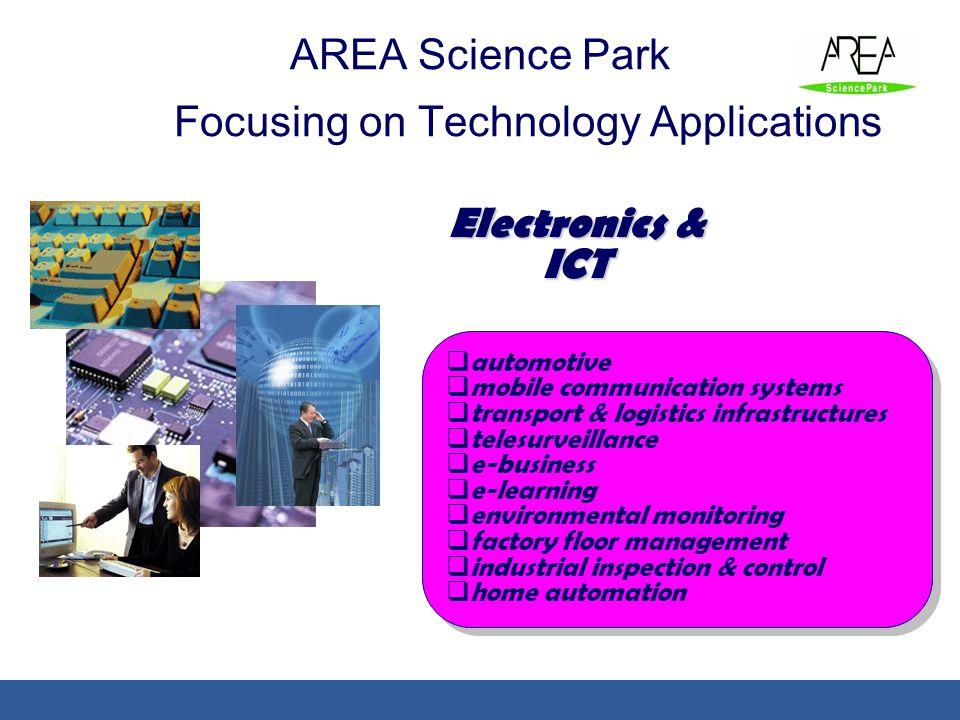 automotive mobile communication systems transport & logistics infrastructures telesurveillance e-business e-learning environmental monitoring factory