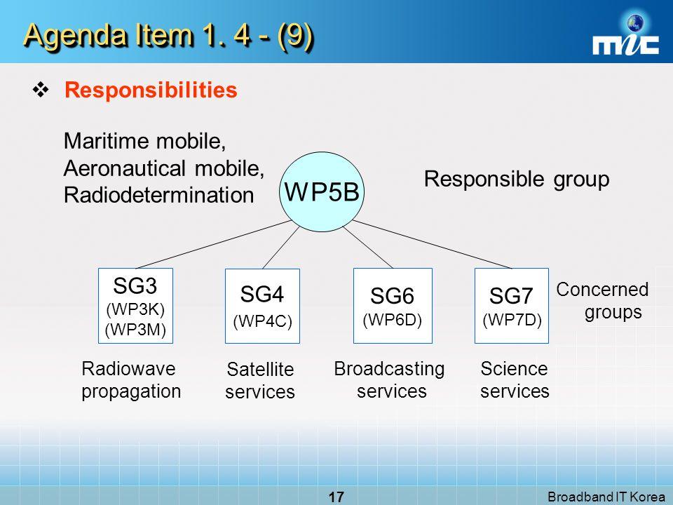 Broadband IT Korea 17 Agenda Item 1.