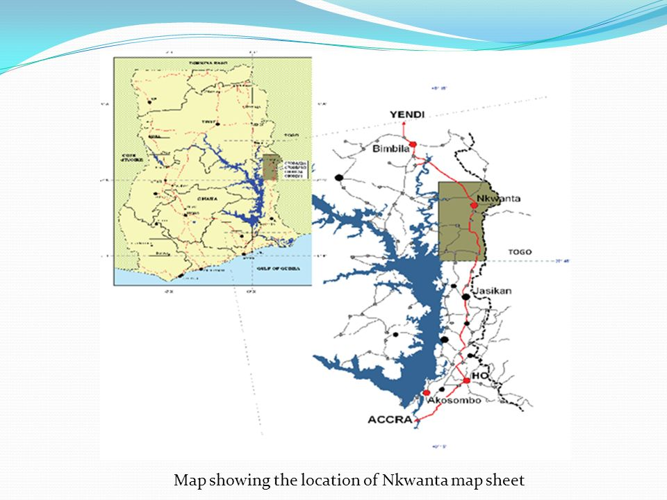 Map showing the location of Nkwanta map sheet