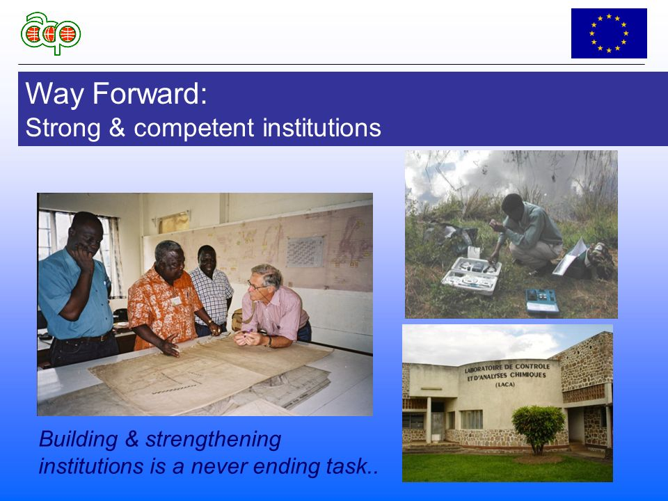 Way Forward: Strong & competent institutions Building & strengthening institutions is a never ending task..