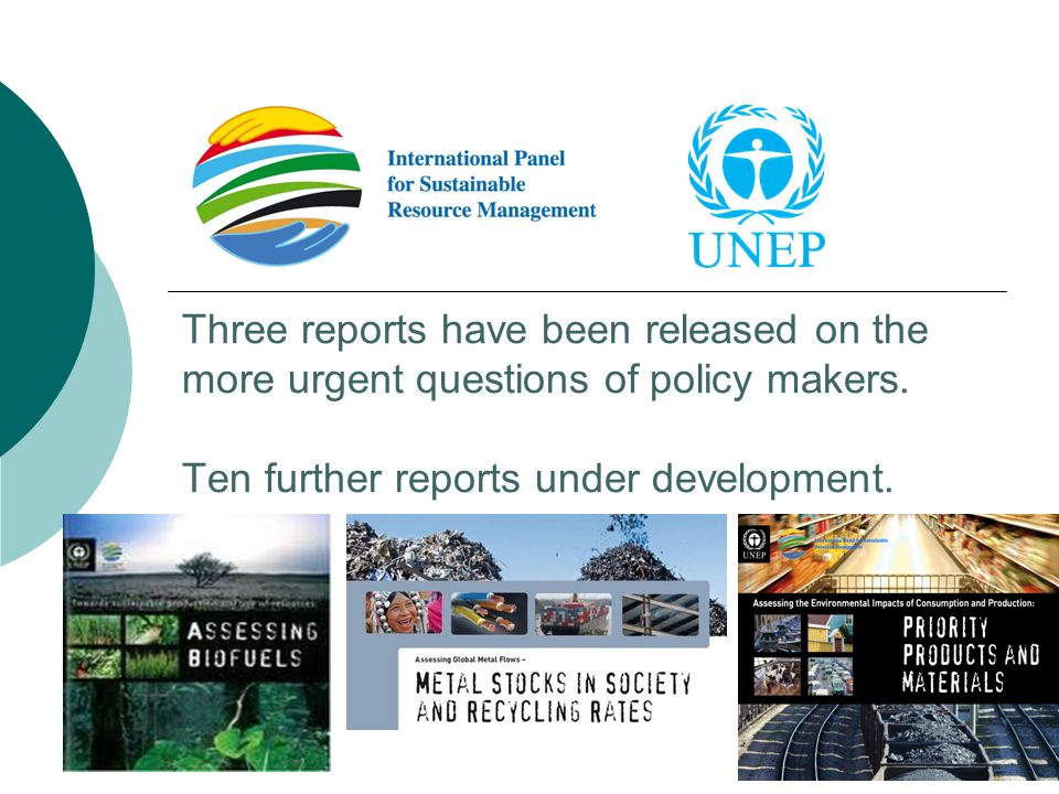 Three reports have been released on the more urgent questions of policy makers. Ten further reports under development.