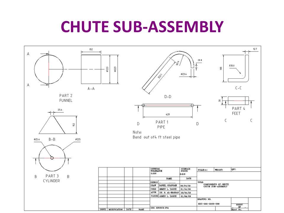 CHUTE SUB-ASSEMBLY 47