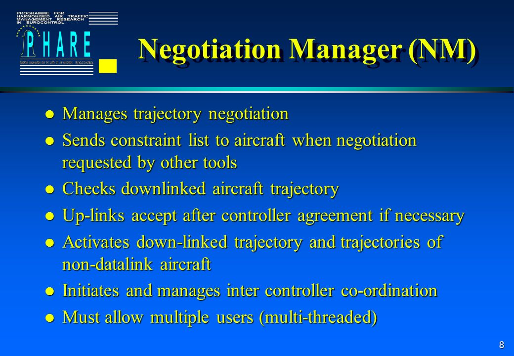 9 Departure Manager (DM) l On receipt of the initial trajectory sequences traffic for runways.