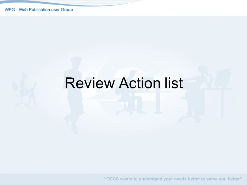 Review Action list