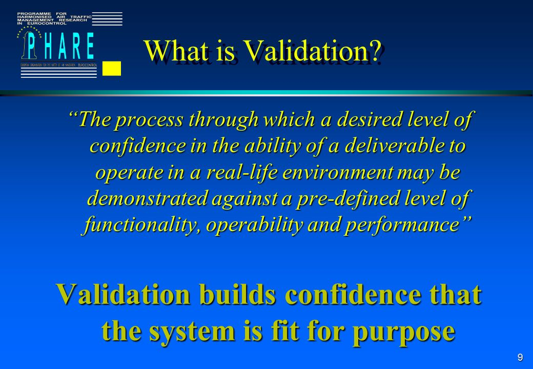 30 Validation is a Living Subject