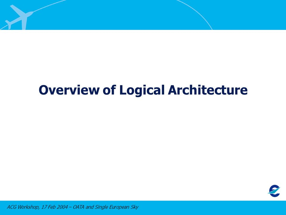 ACG Workshop, 17 Feb 2004 – OATA and Single European Sky Overview of Logical Architecture