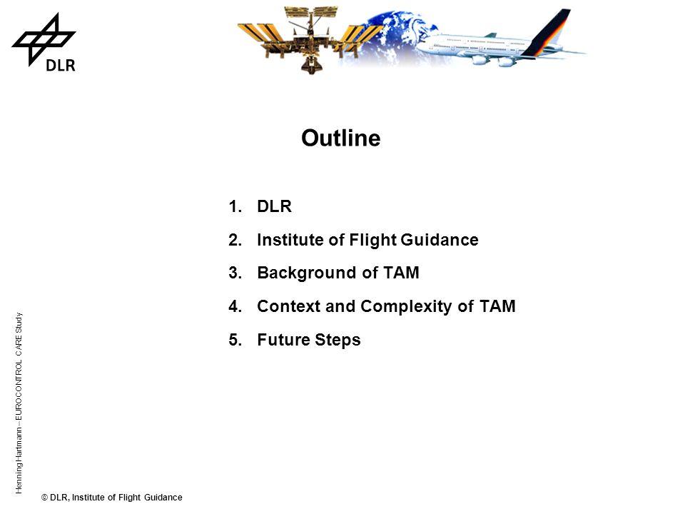 © DLR, Institute of Flight Guidance Henning Hartmann – EUROCONTROL CARE Study Basic Management Areas Stand & Gate Management Taxi & Ramp Management Air Traffic Management Outbound Inbound