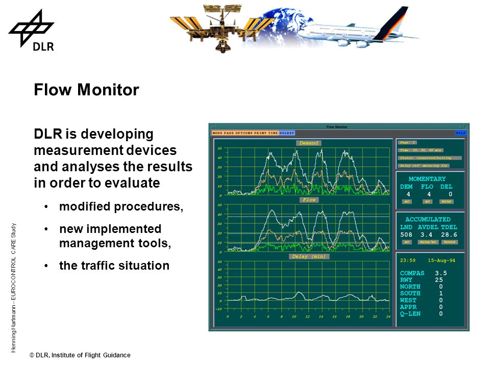 © DLR, Institute of Flight Guidance Henning Hartmann – EUROCONTROL CARE Study Monitor Example Stand & Gate Management Taxi & Ramp Management Air Traff