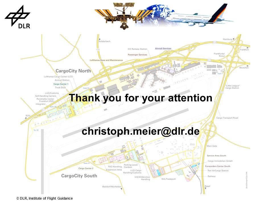 © DLR, Institute of Flight Guidance Thank you for your attention christoph.meier@dlr.de