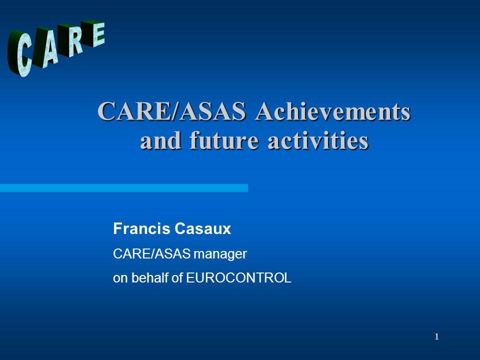 Eighteenth CARE/ASAS Management Board meeting – Haren - 26 November 20042 References CARE/ASAS Action Plan document –Version 5.0 – 6 November 2004 CARE website –http://www.eurocontrol.int/carehttp://www.eurocontrol.int/care