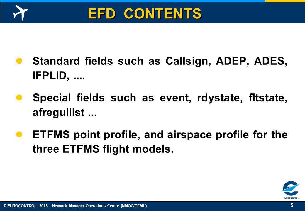 16 © EUROCONTROL 2013 – Network Manager Operations Centre (NMOC/CFMU) ETFMS PHASE II WORKSHOP On 25/06/2003 in Brussels.