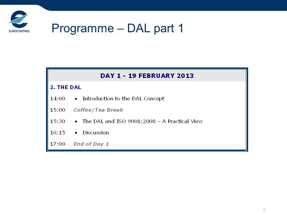 6 Programme – DAL part 1
