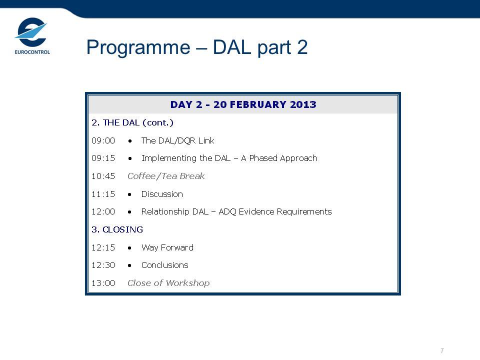 7 Programme – DAL part 2