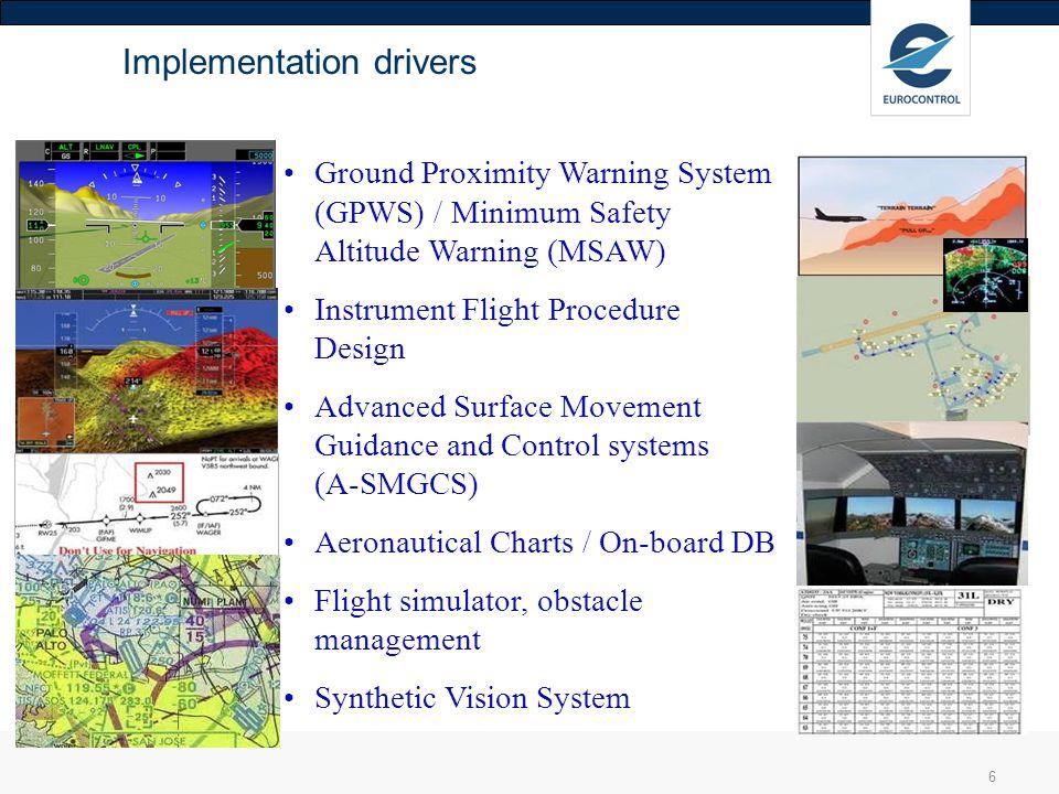 6 Ground Proximity Warning System (GPWS) / Minimum Safety Altitude Warning (MSAW) Instrument Flight Procedure Design Advanced Surface Movement Guidanc