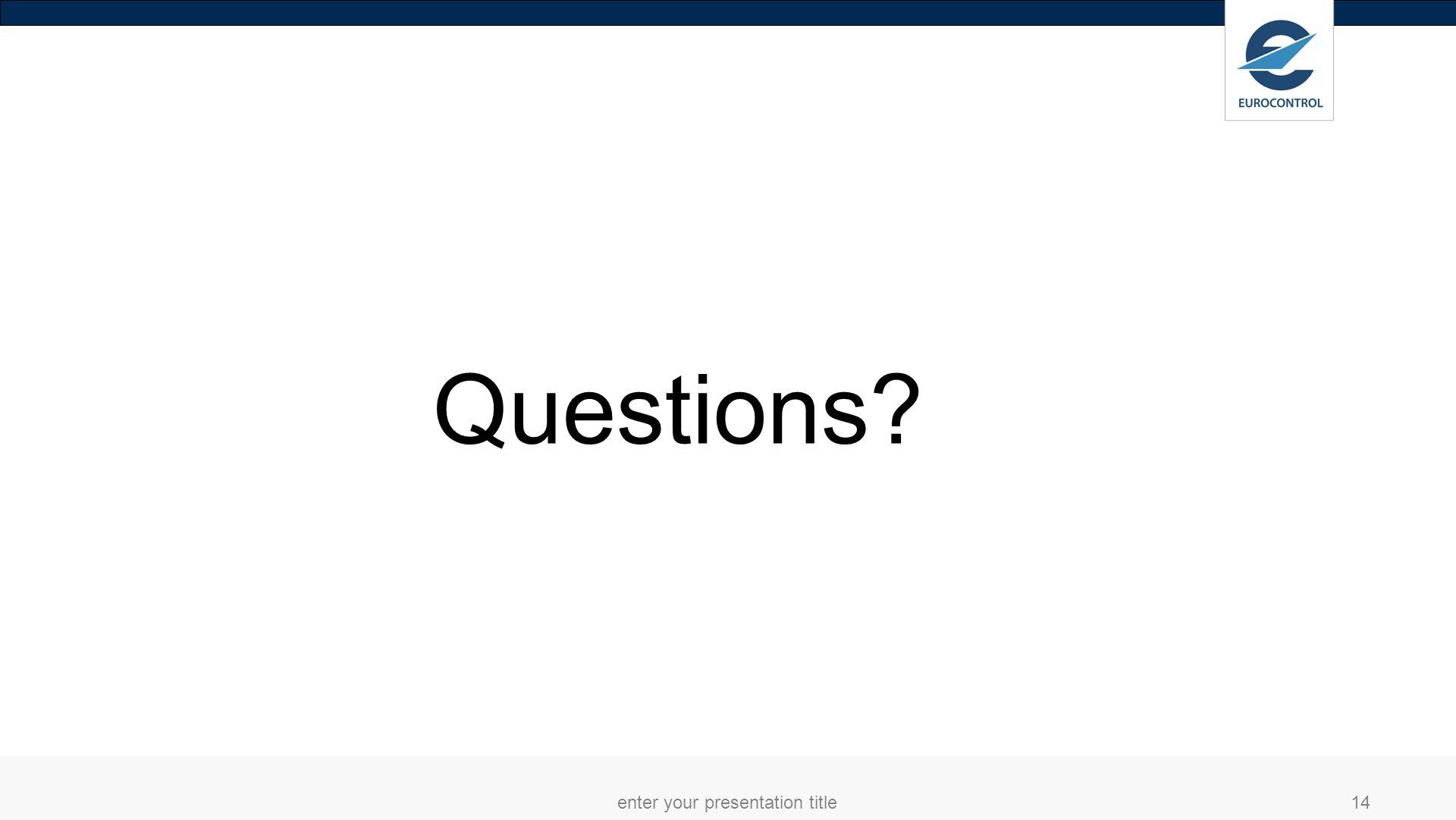 enter your presentation title14 Questions?