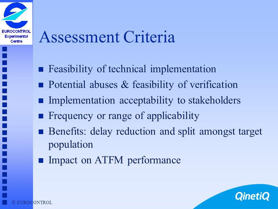 © EUROCONTROL Agenda n Project Background n Assessment criteria n Proposed ATFM strategies u description u assessment u recommended next steps n Concl