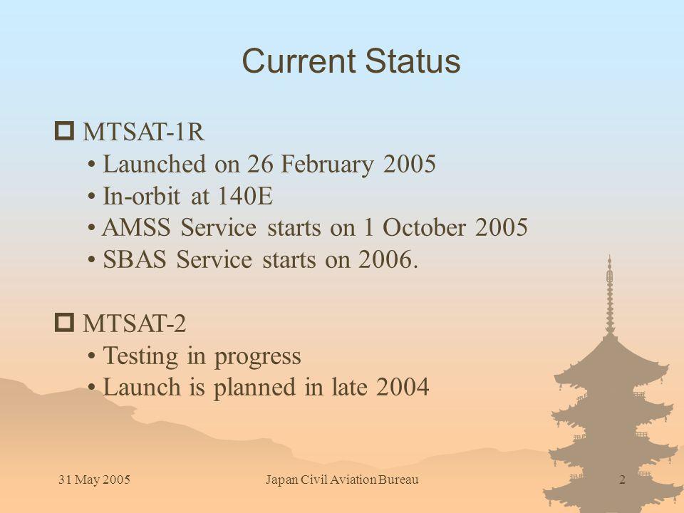 31 May 2005Japan Civil Aviation Bureau3 Coverage