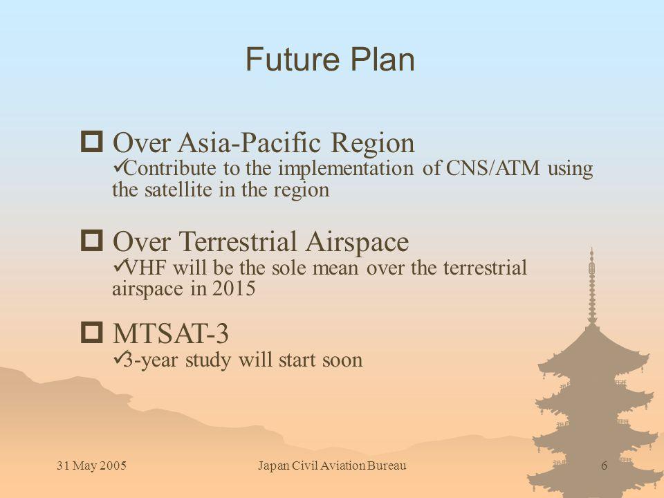 31 May 2005Japan Civil Aviation Bureau7 Contact: MTSAT@mlit.go.jp Any Questions?