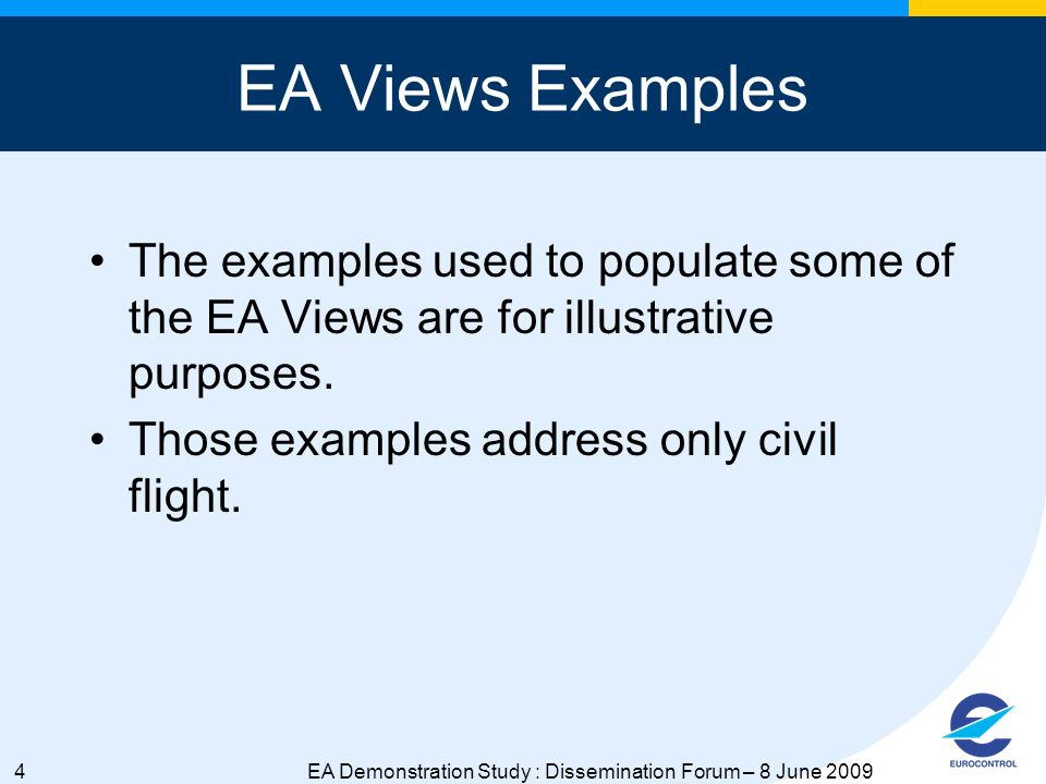 5EA Demonstration Study : Dissemination Forum – 8 June 2009 OV-5: Operational Activity Model Process Description