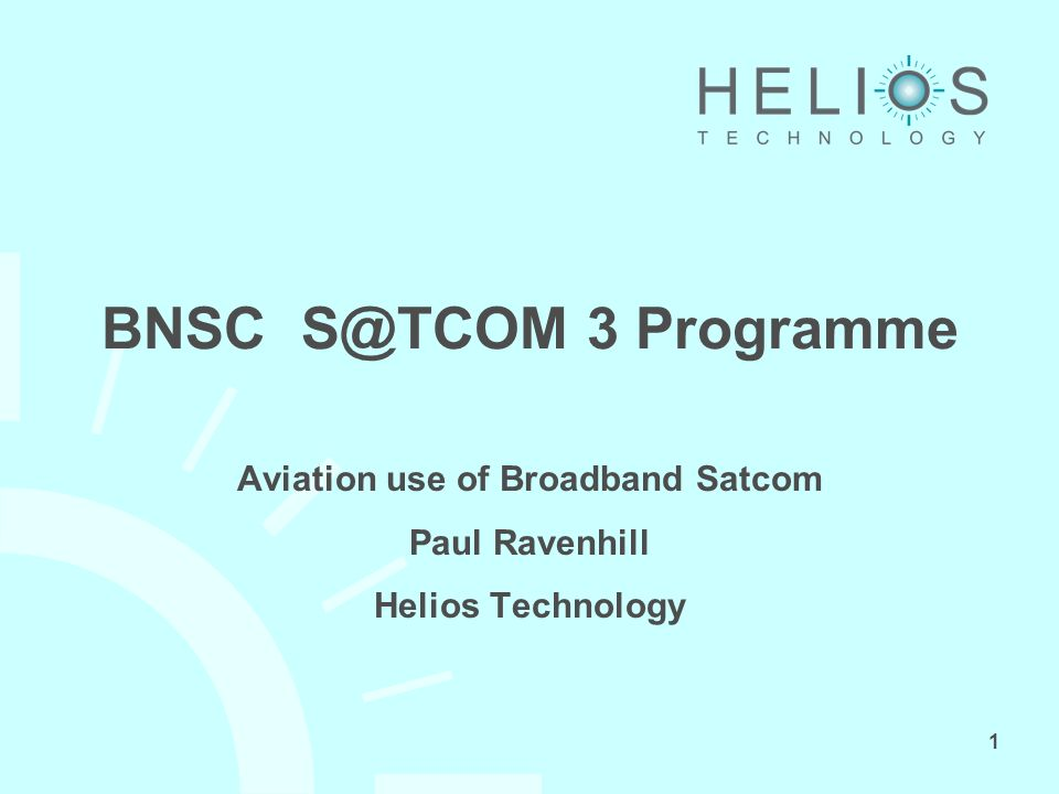 2 The Study The proposition: A satellite communications system capable of supporting all aviation needs is practical from institutional, technical and commercial viewpoints.