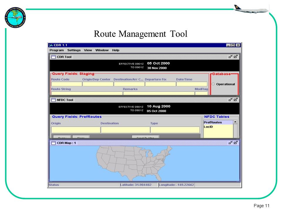 Page 11 Route Management Tool