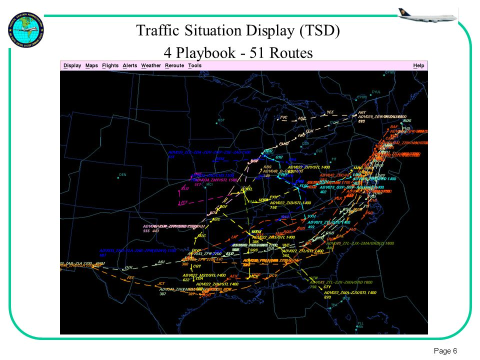 Page 6 Traffic Situation Display (TSD) 4 Playbook - 51 Routes