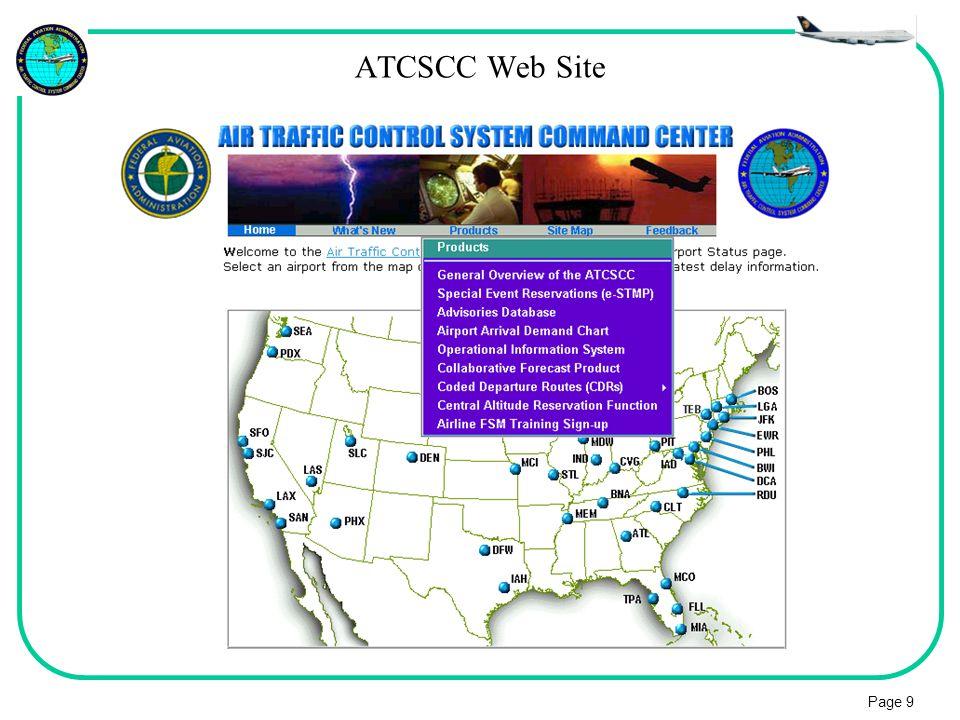 Page 9 ATCSCC Web Site