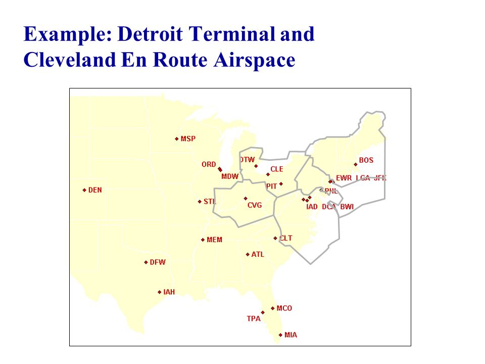 Example: Detroit Terminal and Cleveland En Route Airspace