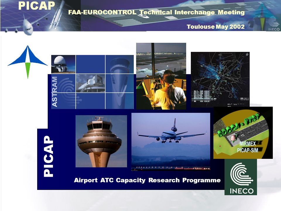 FAA-EUROCONTROL Technical Interchange Meeting Toulouse May 2002 AERODROME MINIMUM AERODROME MINIMUM RUNWAY OCCUPANCY TIMES RUNWAY OCCUPANCY TIMES MAXIMUM RUNWAY TROUGHPUT (RMP) SEPARATION ASSURANCE PERCENTAGE (PGS) PUNCTUALITY INDEX DELAY SEPARATIONS BETWEEN OPERATIONS TRAFFIC MIXAIRCRAFT PERFORMANCE METEOROLOGY RULES AND PROCEDURES PILOT PERFORMANCE INFRASTRUCTURES ENVIRONMENT RESTICTIONS METEOROLOGY OPERATION MODE PILOT PERFORMANCE ATC PERFORMANCE RULES AND PROCEDURES SCHEDULE QUALITY SERVICE APPROACH MINIMUM APPROACH MINIMUM INSTALLATIONS AND EQUIPMENT OPERATIONS/HOUR
