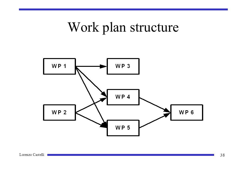 Lorenzo Castelli 38 Work plan structure