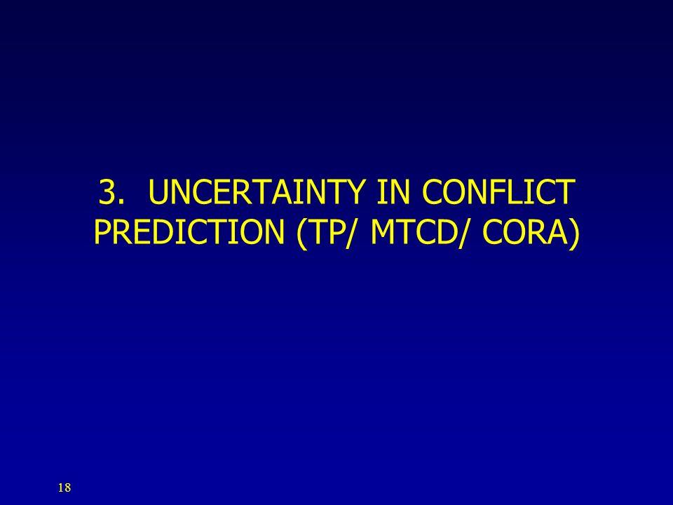 18 3. UNCERTAINTY IN CONFLICT PREDICTION (TP/ MTCD/ CORA)
