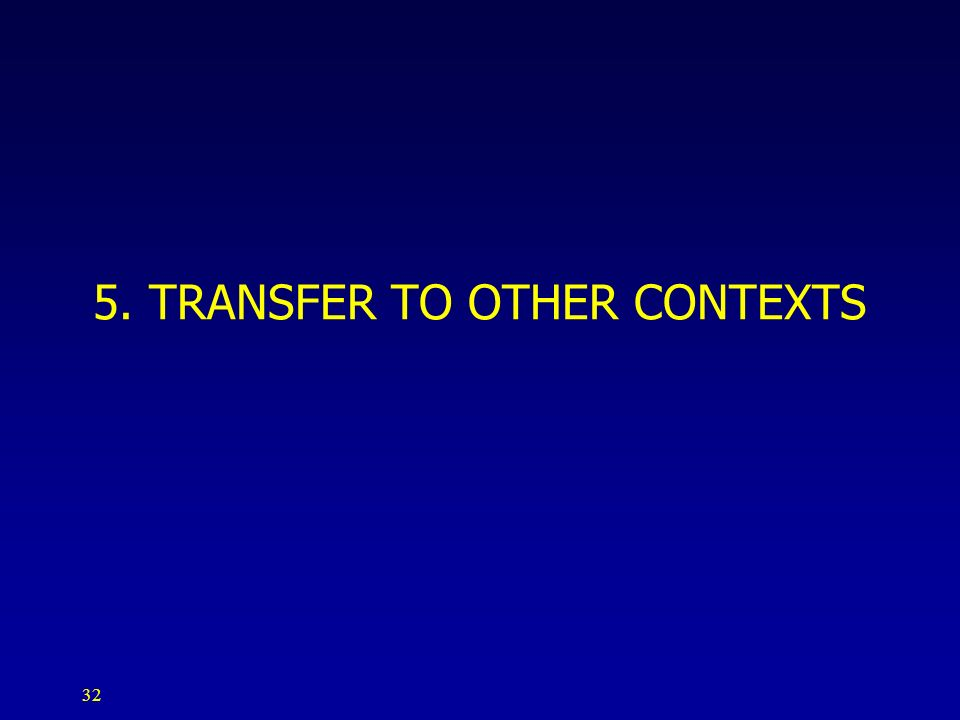 32 5. TRANSFER TO OTHER CONTEXTS