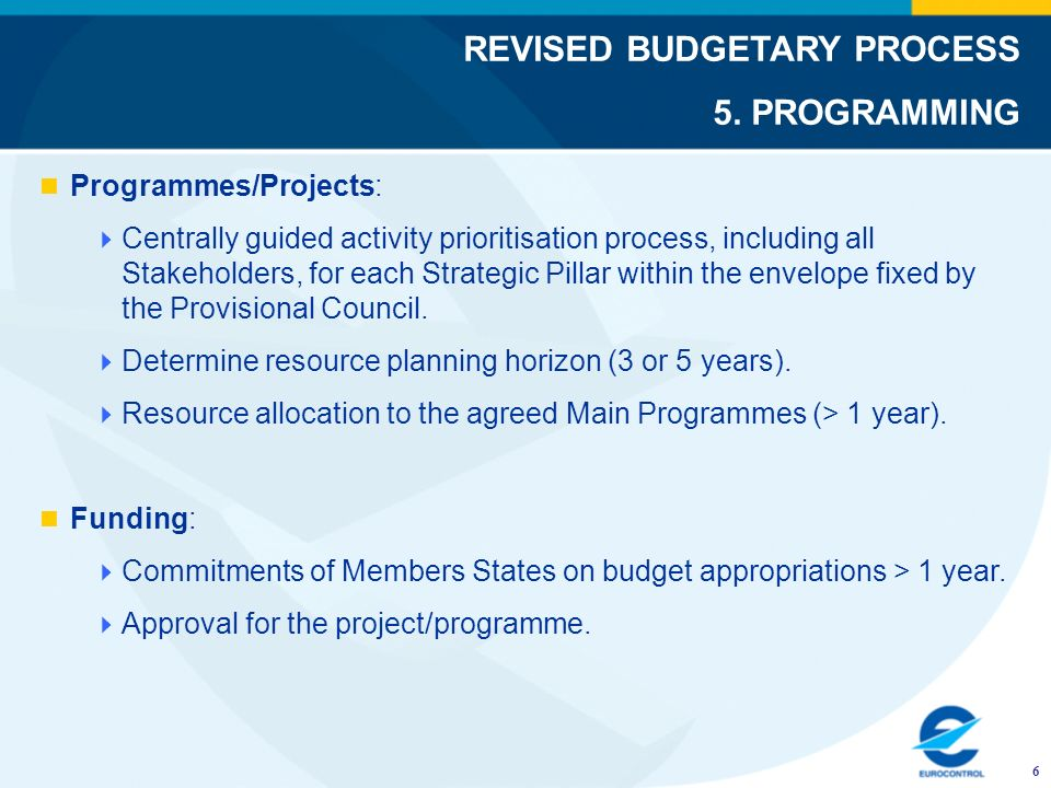 Programmes/Projects: Centrally guided activity prioritisation process, including all Stakeholders, for each Strategic Pillar within the envelope fixed