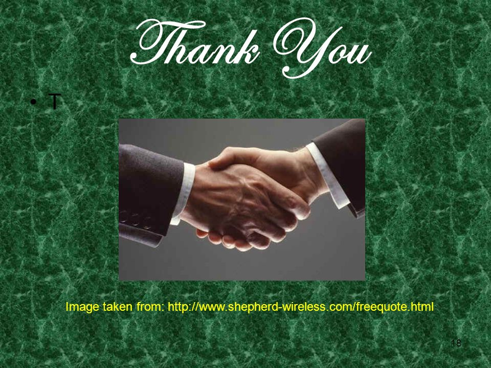 18 Thank You T Image taken from: http://www.shepherd-wireless.com/freequote.html