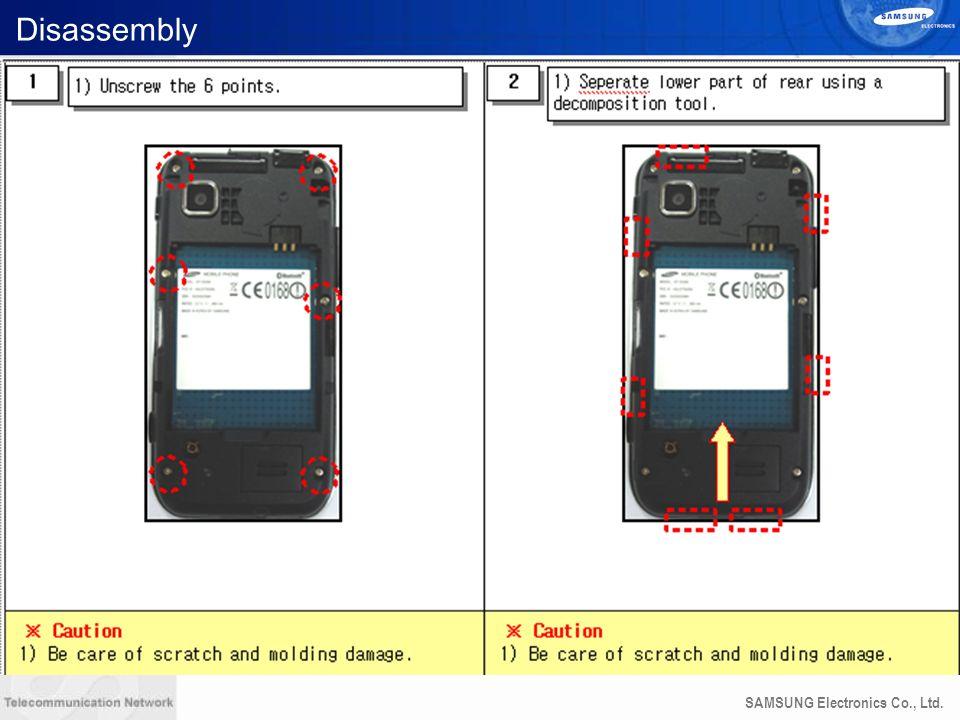 SAMSUNG Electronics Co., Ltd. Disassembly