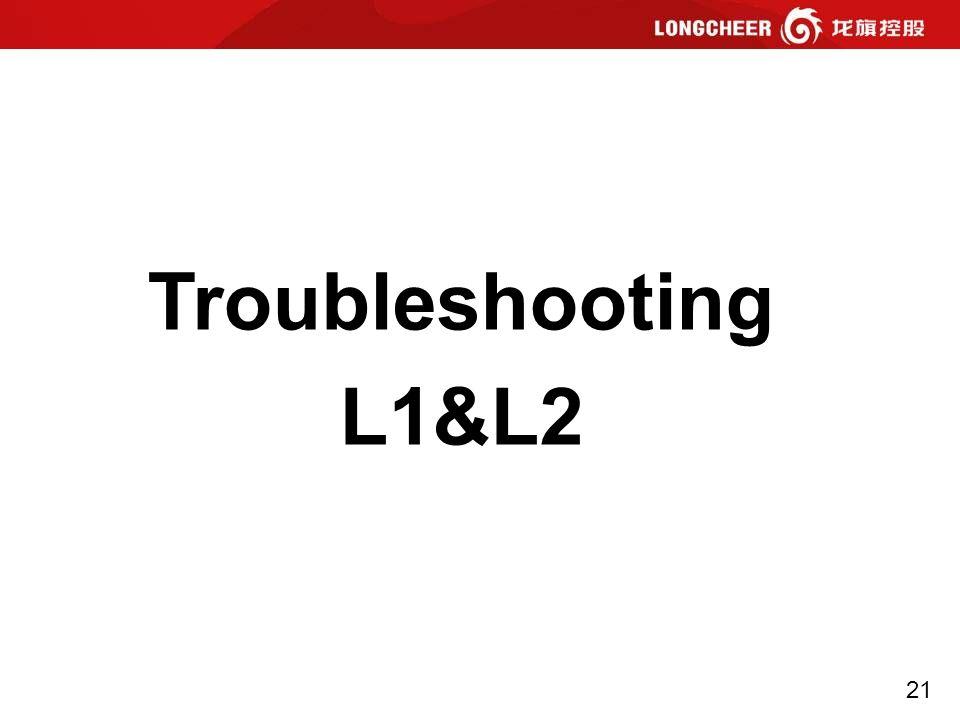 21 Troubleshooting L1&L2