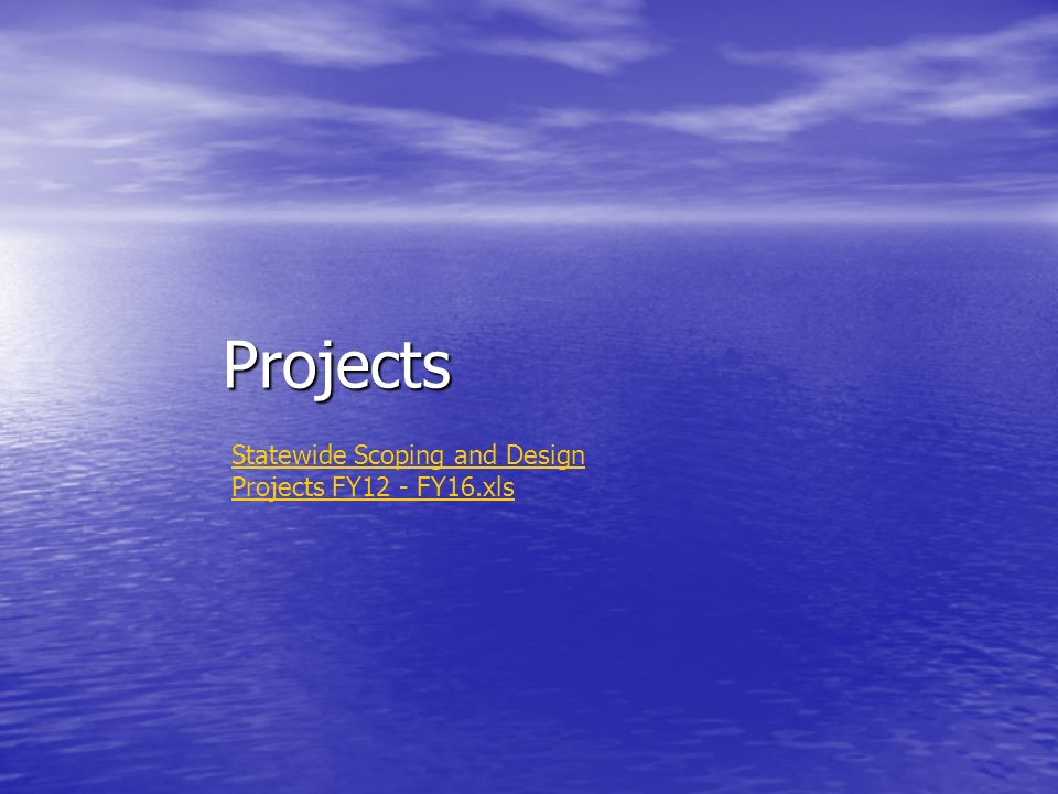 Projects Statewide Scoping and Design Projects FY12 - FY16.xls