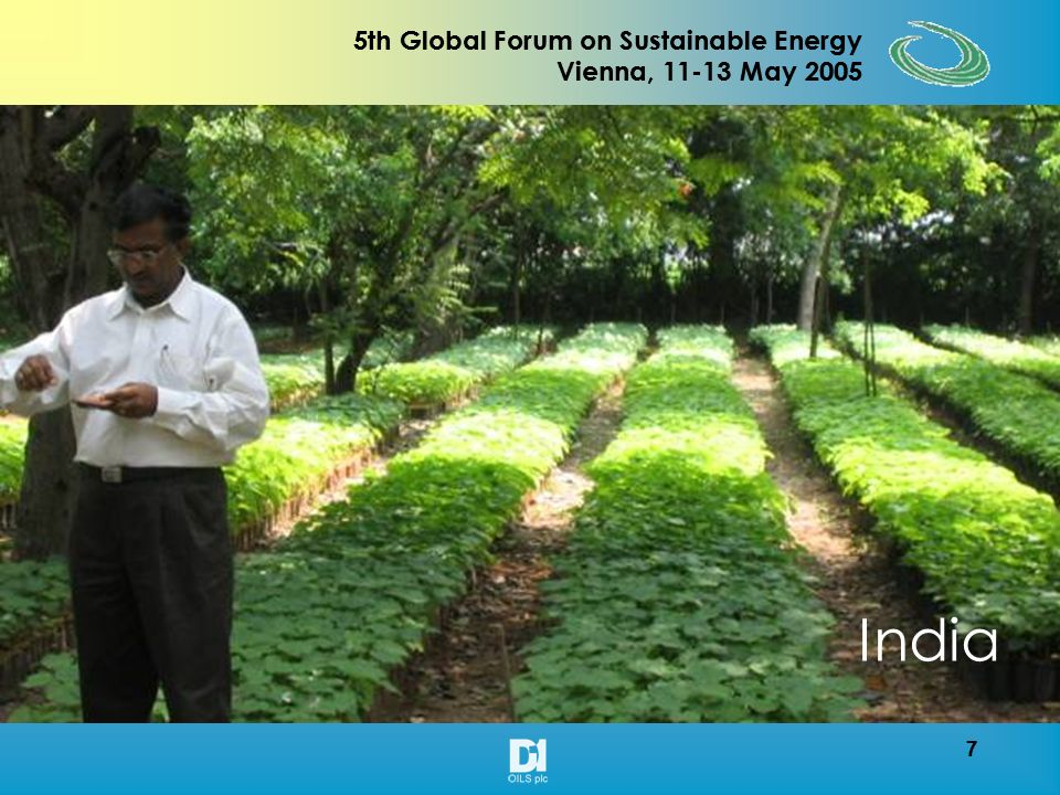 7 5th Global Forum on Sustainable Energy Vienna, 11-13 May 2005 7 India