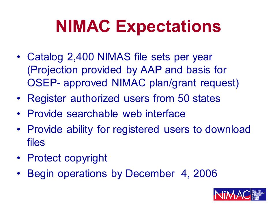 Images and File Size Images--their number and size--drive NIMAS File size.