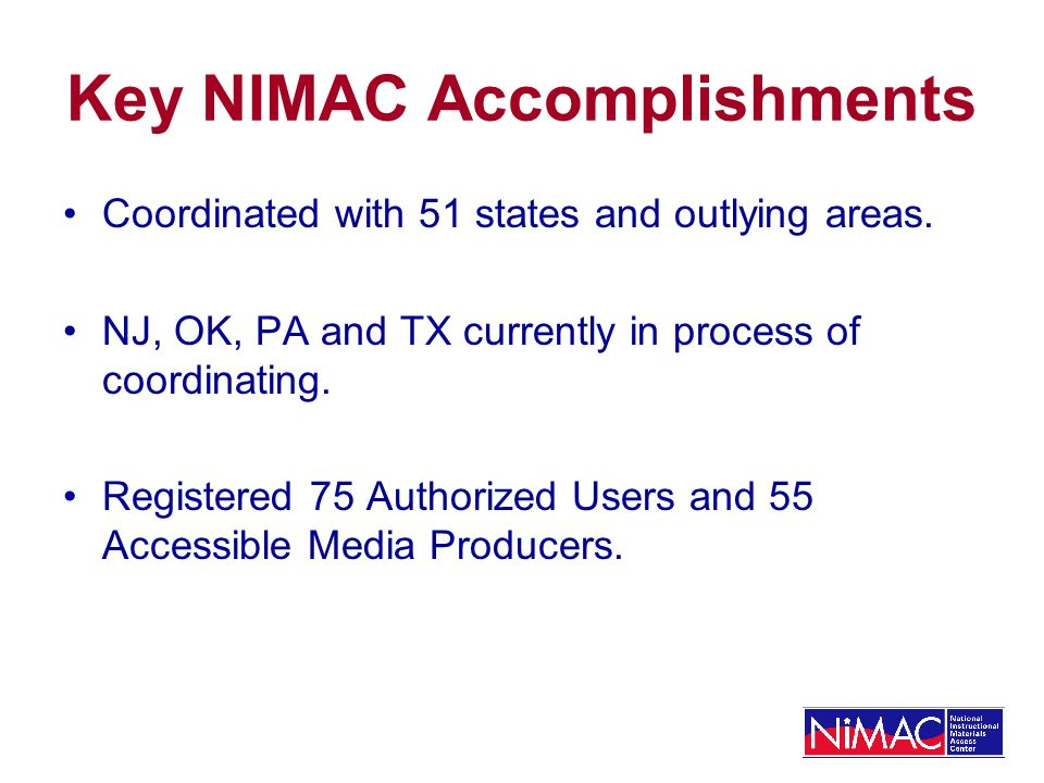 NIMAC Seeking Solutions: Number of Files Currently, NIMAC is expanding capacity by using overtime, contract staff and staff loaned from other APH depts.