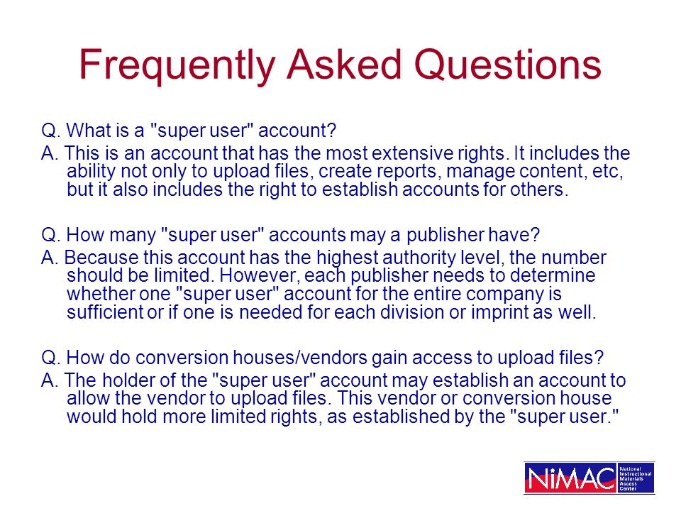 Detailed Information for Publishers on Working with NIMAC Publishers: Metadata Update & Working in the Publisher Portal http://www.nimac.us/Advanced_Publishers.ppt#1 NIMAC Metadata Information http://www.nimac.us/metadata.html Sample OPF http://www.nimac.us/Sample_OPF_v9.doc Publisher Registration FAQ http://www.nimac.us/PublishersandNIMAC2.doc